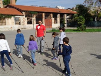 Nordic walking art in Palermo